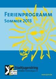 Sommerferienprogrammheft 2013 - Stadtjugendring Leinfelden ...