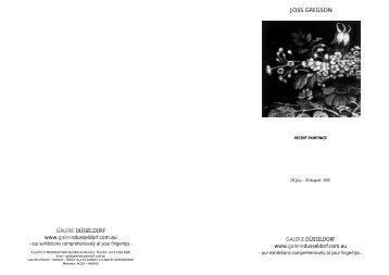 Download Catalogue in PDF Format 274k - Galerie Dusseldorf