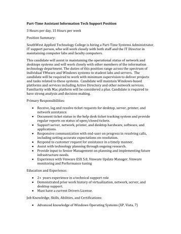 Research assistant description