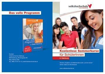 für SchülerInnen - Volkshochschule Salzburg