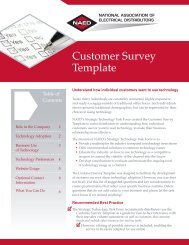 Customer Survey Template - National Association of Electrical ...