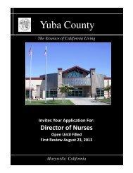 Director of Nurses 8-13 - Yuba County