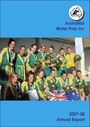 2007-08 Annual Report - Australian Water Polo Inc