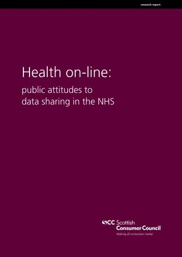 Health Online: public attitudes to data sharing in the NHS - Statewatch