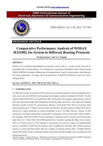 master thesis wimax