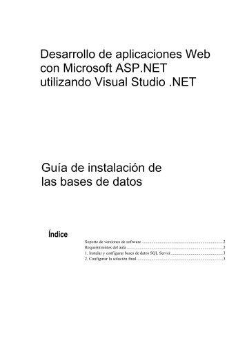Desarrollo de aplicaciones Web con Microsoft ASP.NET ... - Willy .Net