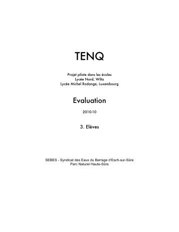 Evaluation - tenqy.lu: Accueil