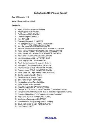 Minutes_27November_2012 - Rwanda Education NGO ...