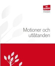 Motioner och utlåtanden - Fastighetsanställdas Förbund