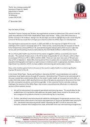 The Rt. Hon. Andrew Lansley MP Secretary of State for Health ...