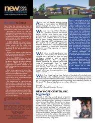 CFC Newsletter Vol. 3 - New Hope Center