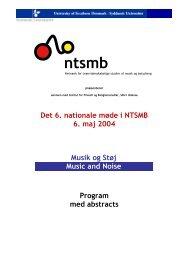Program for det 6. nationale møde i NTSMB