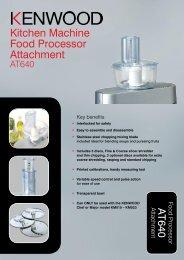 Kitchen Machine Food Processor Attachment
