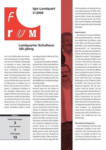 Landquarter Schulhaus 100-jährig Igis-Landquart ... - Bezirksamtsblatt