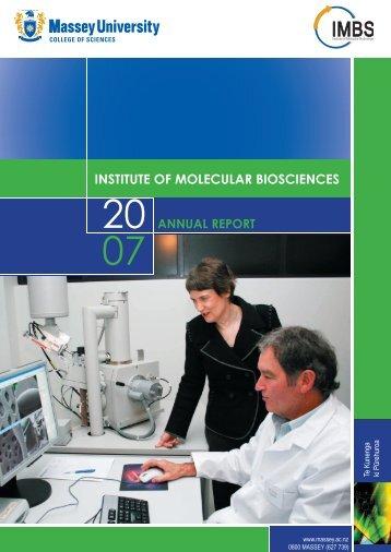 Annual report cover 2007.indd - Allan Wilson Centre