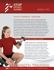 STRENGTH TRAINING - STOP Sports Injuries