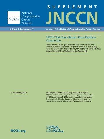 S U P P L E M E N T - National Comprehensive Cancer Network
