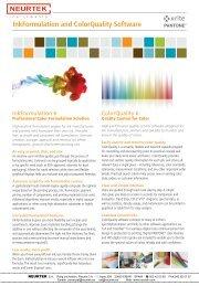 InkFormulation and ColorQuality Software - Neurtek