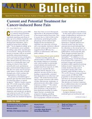 Current and Potential Treatment for Cancer-induced Bone Pain