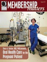 Oral health Care for the pregnant patient - Oregon Dental Association
