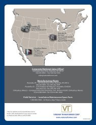 Corporate/National Sales Office* Manufacturing Plants - Virginia ...