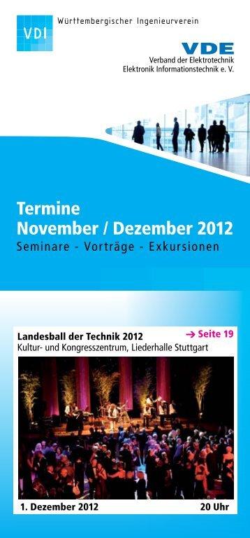 Zum Veranstaltungskalender 11 -  12 [pdf-Datei ] - VDI Stuttgart