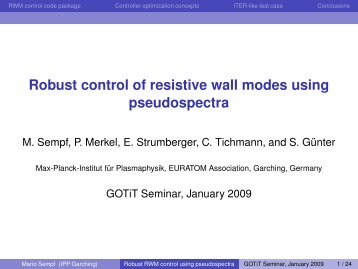 Robust control of resistive wall modes using ... - ResearchGate