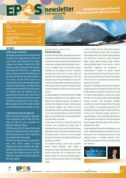 Issue n. 01/2012 January - EPOS - European Plate Observing System