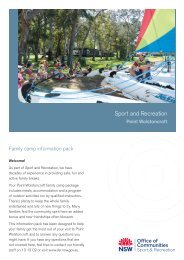 Family Information Pack - Point Wolstoncroft - NSW Sport and ...