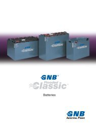 GNB Flooded Classic Batteries - MHI