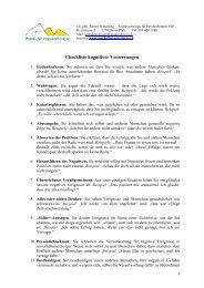 Checkliste kognitiver Verzerrungen - Dr. phil. Rainer Wilkening