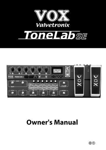 ToneLab SE Owner's manual - Vox