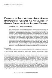 pathways to adult alcohol abuse across racial/ethnic groups