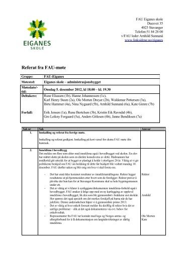 FAU referat 5 des 2012 - Linksidene