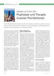 Prophylaxe und Therapie invasiver Pilzinfektionen - Infektionsnetz