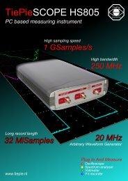 TiePieSCOPE HS805 - Brochure - TiePie engineering