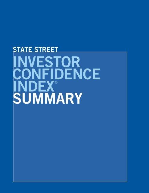 INVESTOR CONFIDENCE INDEX® SUMMARY - State Street
