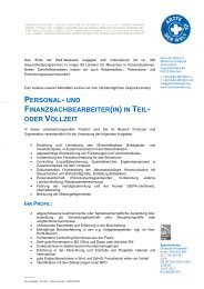 personal- und finanzsachbearbeiter(in) in teil- oder vollzeit