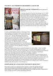 GOLASECCA – DU COMMERCE ET DES HOMMES A L'AGE DU ...