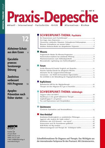 SCHWERPUNKT-THEMA: Psychiatrie ... - Medical Tribune