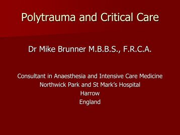 Polytrauma and Critical Care - MOTEC LIFE-UK