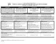 vertical articulation of english language arts standards