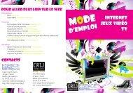 D'EMPLOI - centre ressources information jeunesse rhone-alpes