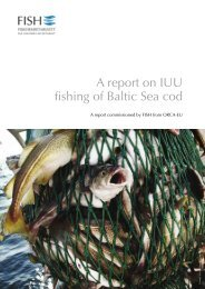A report on iUU fishing of Baltic Sea cod - Fisheries Secretariat