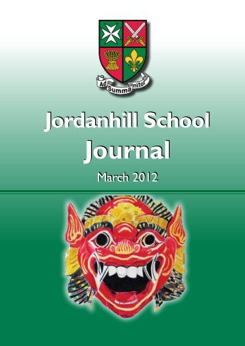 Journal Journal - Jordanhill School