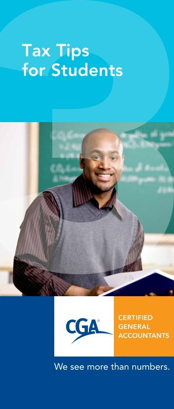 Tax Tips for Students - Certified General Accountants of Ontario
