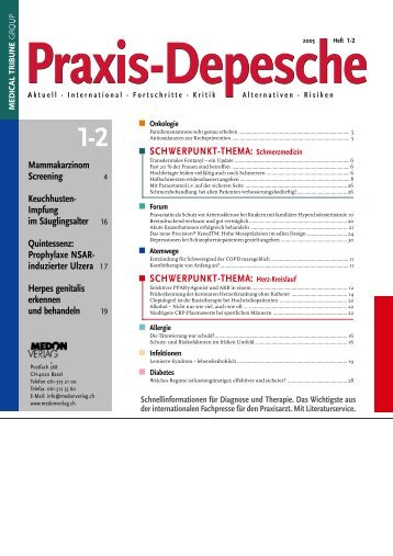 SCHWERPUNKT-THEMA: Schmerzmedizin ... - Medical Tribune