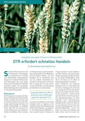DTR erfordert schnelles Handeln - Landwirtschaft ohne Pflug ...
