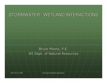 stormwater / wetland interactions - Wisconsin Wetlands Association