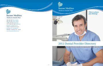 2012 Dental Provider Directory - Banner Health